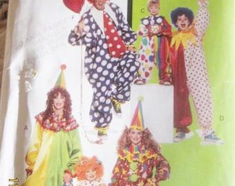 2 Clown Costume patterns S<M>L  Children's Halloween & circus Princess Jester
