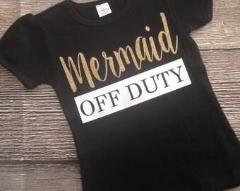 Mermaid Off Duty Girls Glitter Shirt