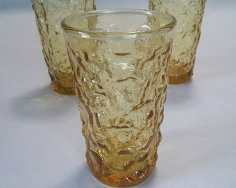 Honey Gold Milano Lido Juice Glasses, Set Of Three, by Anchor Hocking