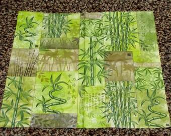 """6 Decoupage Paper Napkins Serviette Bamboo, Indian cane 33x33 cm. 13""""x13"""" 6 pcs. Napkins"""