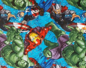 Marvel comics fabric by the yard
