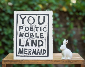 You Poetic Mermaid!