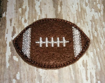 Set of 4 Football Sports Ball Vinyl Glitter Feltie Felt Embellishment Bow! Applique Embroidery Birthday Party Planner Clip Fealtie Team Foot