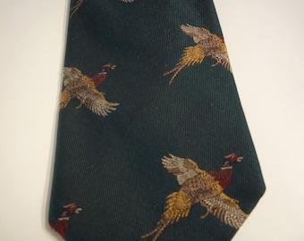 Homer Reed, Ltd. Retro Forest Green Silk Necktie