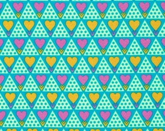 FLANNEL Hearts - Family Unit in Citrus, Pretty Potent Collection by Anna Maria Horner for Free Spirit
