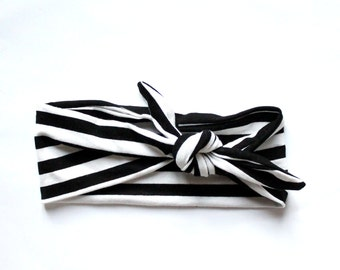 SALT-striped headband white/black