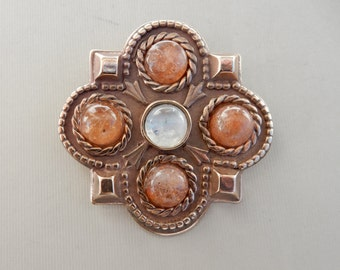 Frankish Pin with Sunstone and Moonstone