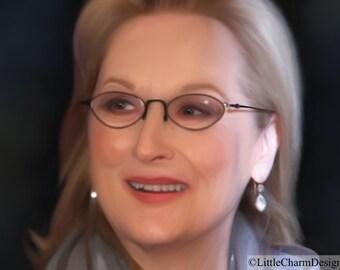 Digital Download, Printable, Meryl Streep, 100% Original Artwork, iPad Art
