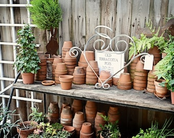 Vintage Clay Pots Gardening Photo Print