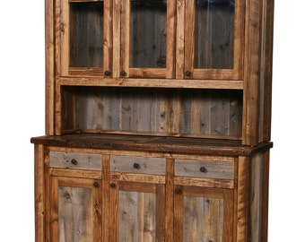 Natural Barn Wood Buffet And Hutch, Rustic Buffet, Barn Wood Buffet, Rustic  Furniture