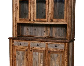 Natural Barn Wood Buffet And Hutch Rustic Furniture