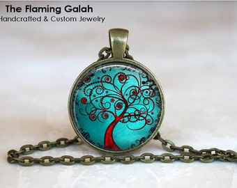TREE OF LIFE Pendant •  Turquoise Tree of Life •  Spiritual Tree •  Tree of Life Jewellery • Gift Under 20 • Made in Australia (P0385)