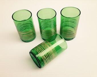 4 SAP glazen, glaswerk, gerecycleerd glaskunst, Groomsmen Gift Set, gepersonaliseerde Barware, Boho bril, Art brillen, geschilderd drank bril