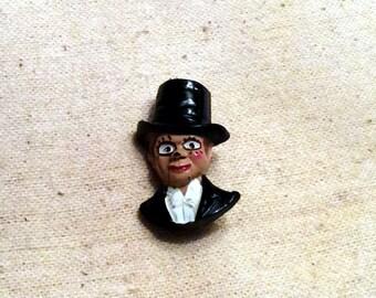 Vintage Antique Charlie McCarthy Pin Brooch Edgar Bergen's Ventriloquist Dummy