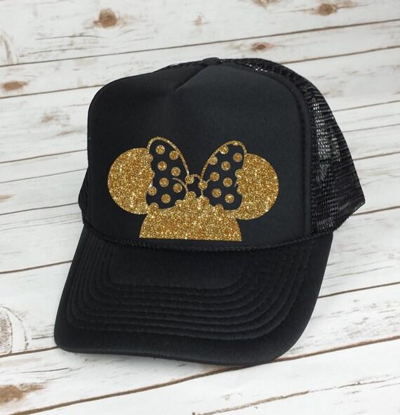 Disney Trucker Hat Minnie Mouse Polka Dot Bow Cinderella