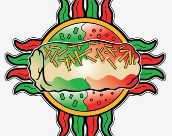 Burrito Zia Sticker