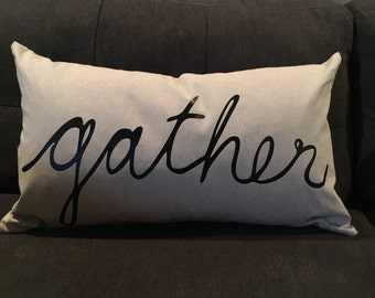 Gather Down Feather Pillow