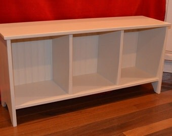 Cubby Sitting and Entryway Storage Bench with Wainscoting -- Custom Colors and Sizes Available