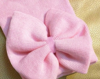 NEW! Pink Extra Big Bow Beanies!  Newborn Hospital Beanie Hat. Perfect 1st Keepsake! Great Baby Gift! Every Baby Needs One!