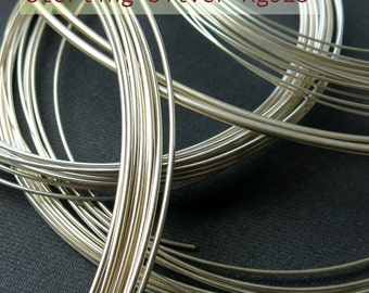 Round wire, Sterling Silver, Ag925, 1 meter (from 1.0 to 2.0mm)