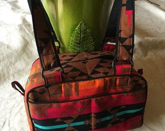Shoulder bag, satchel, Navajo print, pendelton print, native american design, southwestern design purse