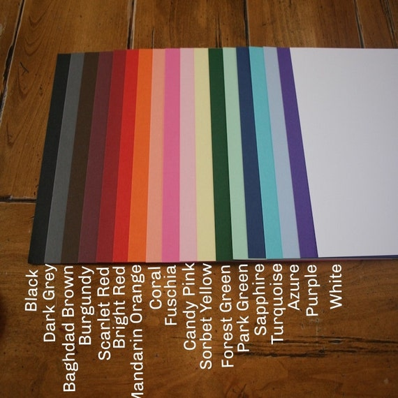 Items similar to Card stock, Cardstock, paper, Heavy ...
