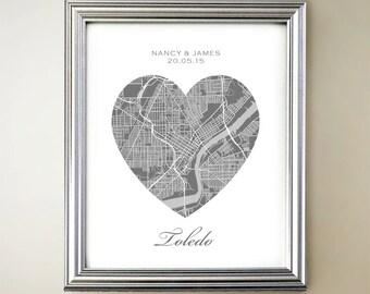 Toledo Heart Map