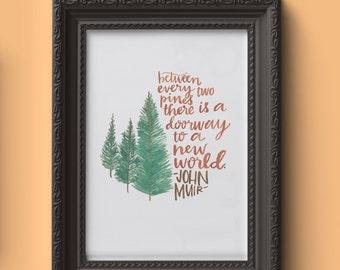 pines print