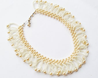 1960's Vintage Unusual Pearl Necklace