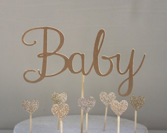 Baby shower cake topper kit