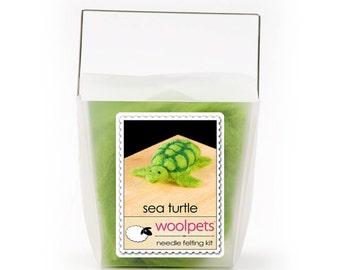Needle Felting Kit, Needle Felted Animal - Sea Turtle
