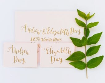 Gold Calligraphy Envelopes
