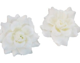 24 PCS. 1.75 inches Mini White Silk Rose Artificial Flower for Craft and Decoration