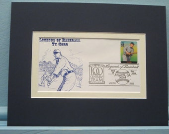 Hall of Famer and Detroit Tiger Great Ty Cobb & First Day Cover of his own stamp