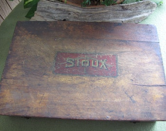 Valve Seat Grinding Cutter Set in Wooden Box Sioux Albertson & Company, Sioux City Iowa