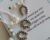 Good Luck Charm Wish Bracelet x1 Good Luck Charm Gift Make a Wish Bracelet Wedding Gift Brides Gift Horseshoe Gift Lucky Charm