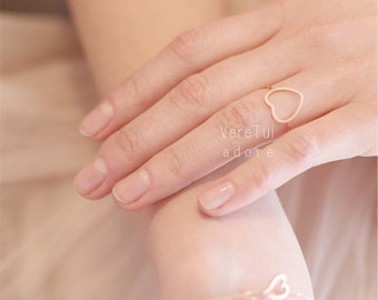 Heart Ring in Rosegold