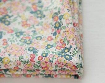 "Lawn Fabric - Little Flower Pattern Lawn Fabric ""Lucretia Parfait Pink"" by Half Yard - 55"" Width"