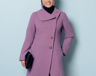 Butterick Sewing Pattern B6292 Misses' Curved-Seam Coats