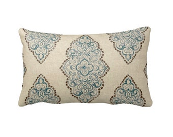 7 Sizes Available: Throw Pillow Cover Blue Pillow Cover Decorative Pillows Sofa Pillow Lumbar Pillow 12x16 Pillow 12x24 Pillow 18x18 Pillow