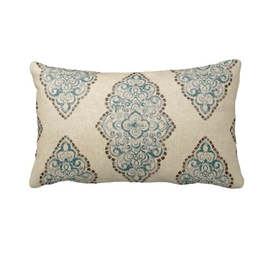 Standard Throw Pillow Cover Sizes : 7 Sizes Available: Throw Pillow Cover Blue Pillow Cover