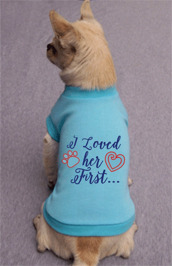 I loved her first Dog wedding attire Tee by BeauChienBoutique