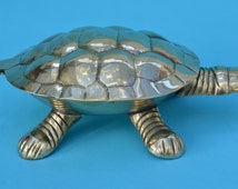 Vintage Brass Tortoise Turtle Trinket Box Collectible Useable Home Decor Display Piece Reptile Lovers Gift Vanity Table Jewelry Holder!
