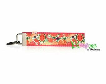 Fabulous colourful fruit wrist keychain key fob wristlet