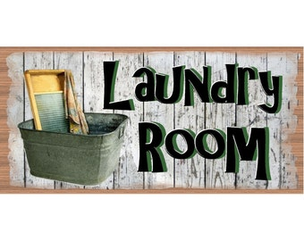 Laundry Wood Signs -Laundry Plaque - GS 2505 - Laundry Room Decor - Laundry Room Plaque