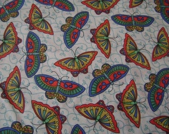 Butterflies Cotton Fabric Sold by the Yard