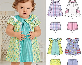 New Look Pattern 6275 Baby Dress and Panties