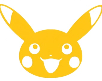 Pokemon Pikachu Vinyl Decal Sticker