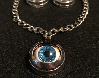 Doll Eye Necklace & Earring Set