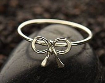 Sterling Silver Tiny Bow Ring